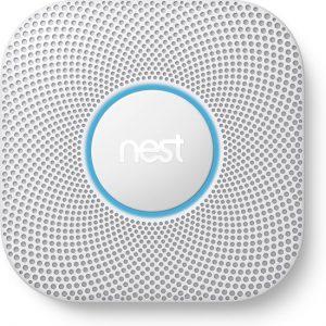 Google Nest Protect - Slimme rook- en koolmonoxidemelder - Bedraad - 230 V-aansluiting