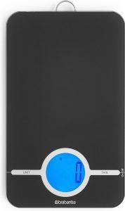 Brabantia Tasty+ Keukenweegschaal Digitaal - op batterijen - Dark Grey
